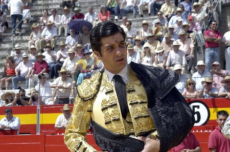 matadors: the bullfighter morante de la puebla in the bullfight held in granada on 7 june 2007, at feria de corpus