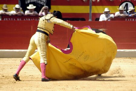 The bullfighter Morante de la Puebla in the bullfight held in Granada on 7 June 2007, at Feria de Corpus Stock Photo - 6891372