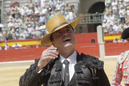 coping: the bullfighter jos� ortega cano in the bullfight held in granada on 7 june 2007, at feria de corpus