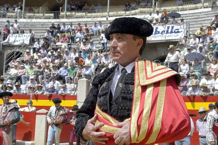 cano: The bullfighter Jos� Ortega Cano and Jose Maria Manzanares in the bullfight held in Granada on 7 June 2007, at Feria de Corpus
