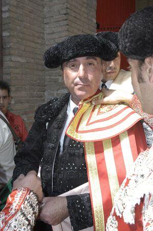 cano: the bullfighter jose ortega cano and jose maria manzanares in the bullfight held in granada on 7 june 2007, at feria de corpus