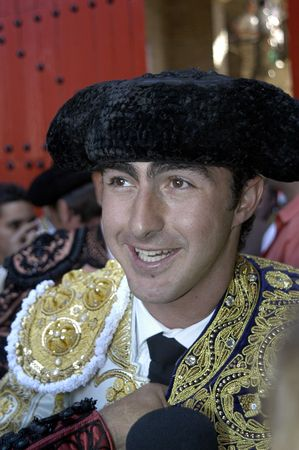 The bullfighter David Fandila, El Fandi, in the bullfight held in Granada on 7 June 2007, at Feria de Corpus Stock Photo - 6895857