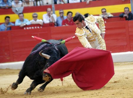bullfighters: The bullfighter David Fandila, El Fandi, in the bullfight held in Granada on 7 June 2007, at Feria de Corpus Editorial