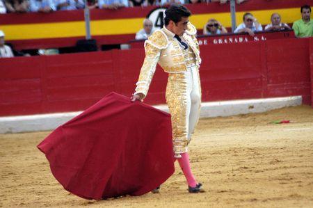 matador: De stierenvechter David Fandila, El Fandi, in het stierengevecht gehouden in Granada op 7 juni 2007, Feria de Corpus