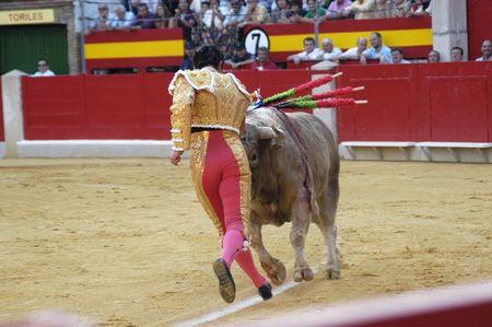the bullfighter david fandila, el fandi, in the bullfight held in granada on 7 june 2007, at feria de corpus Stock Photo - 9588062