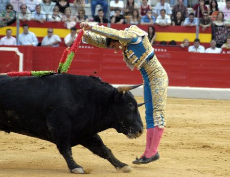 The bullfighter David Fandila, El Fandi, in the bullfight held in Granada on 7 June 2007, at Feria de Corpus Stock Photo - 6895928