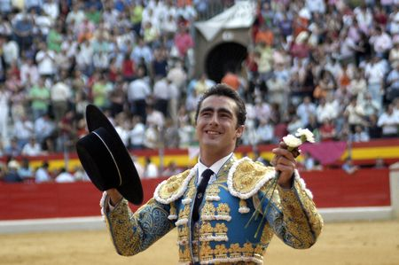 The bullfighter David Fandila, El Fandi, in the bullfight held in Granada on 7 June 2007, at Feria de Corpus Stock Photo - 6895986