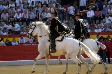 Sheriff and his horse in the bullring in Granada (Spain) in the bull Corpus Fair June 2007 Stock Photo - 6895943