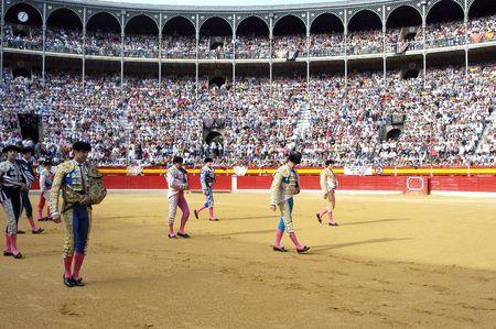 matadors: Viewer in the bullfight held in Granada on 7 June 2007, at Feria de Corpus