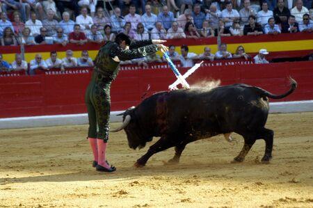 matadors: The bullfighter banderillero in the bullfight held in Granada on 7 June 2007, at Feria de Corpus Editorial