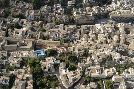 グラナダ: グラナダのアルバイシン地区の空中写真