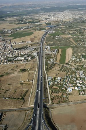 Aerial view of highway in the province of Granada photo