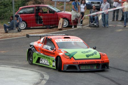 Enrique Cirre, rally driver in the rise of Cortegada (Galicia) Spain on 27/05/2007 Stock Photo - 6897310