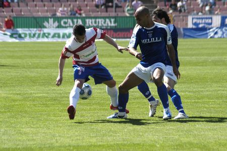 20100404 - Granada - Spain - Soccer match between FC Granada and Melilla