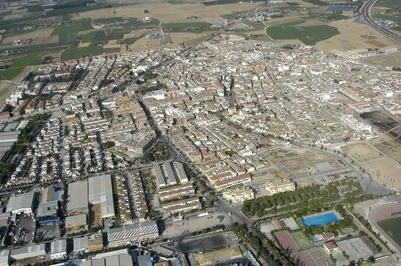 Aerial view of the town of Albolote, in the province of Granada photo