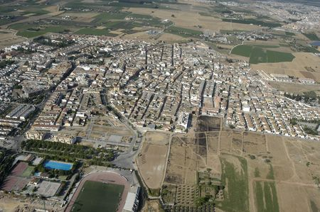 Aerial view of the town of Albolote, in the province of Granada Stock Photo - 6746361