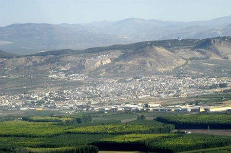 Aerial view of the town of Atarfe, in Granada province photo