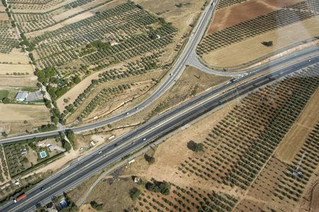 Aerial view of a highway in Granada photo