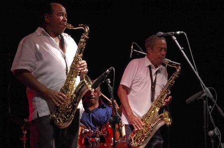 quintet: 20070719- Almuñécar - Granada - Spain - Festival of Jazz in the coast of Granada. Benny Golson & Johnny Griffin Quintet Editorial