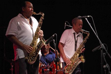 quintet: 20070719- Almuñécar - Granada - Spain - Festival of Jazz in the coast of Granada. Benny Golson & Johnny Griffin Quintet