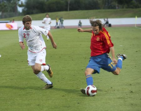 2007/09/11 - Almuñécar - Granada - Spain - Football game between the Spanish Under-21 and the selection of Giorgia Stock Photo - 7571274
