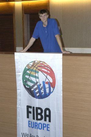 palacio ruso: 20070904-Granada-Espa�a-Andrei Kirilenko, jugador ruso del equipo de baloncesto de la Granada del Palacio de deportes