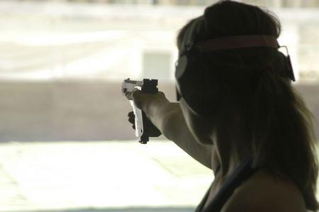 pistola de tiro