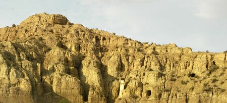desert landscape: Desert landscape in the region of Guadix
