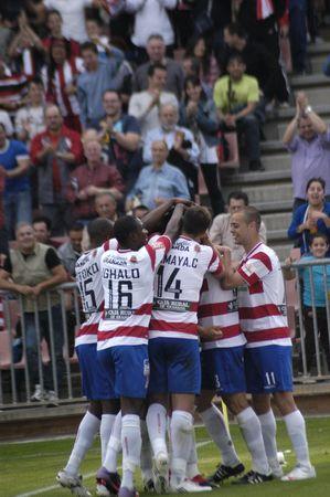 20100425- Granada - Spain - Football game between the Granada CFand Moratalla Editorial