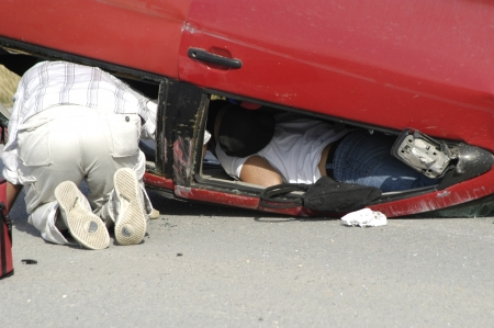 traffic accidents: Road accident