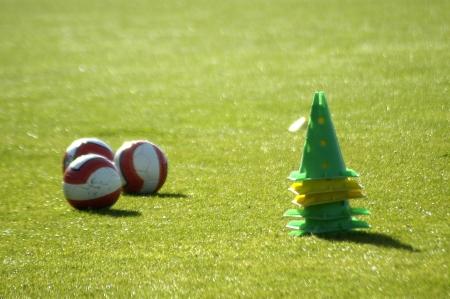 athletics training: Soccer Ball Stock Photo