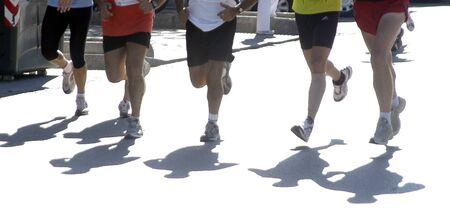 persecution: Marathon race Stock Photo