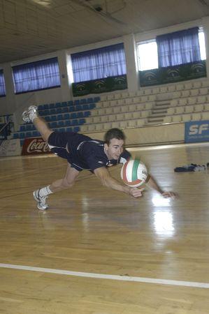declared:  20071201 - Granada-Spain-Guille Hernan, Spanish football player volleyball, which has been declared European champion