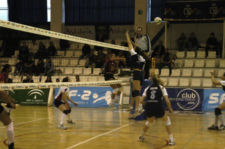university of granada: 20071201 - Granada, Spain, womens volleyball match between the University of Granada and the Ribeira Sacra de Monforte de Lemos Lugo