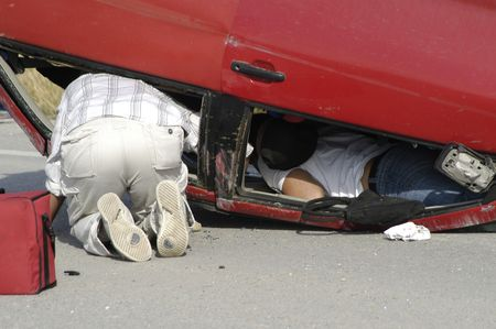 overturn: Road accident