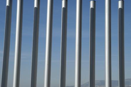 parallelism: metal fence