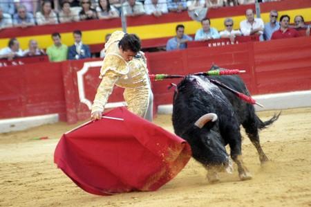 matador: De stieren vechter David Fandila, El Fandi, in het stieren gevecht gehouden in Granada op 7 juni 2007, Feria de corpus