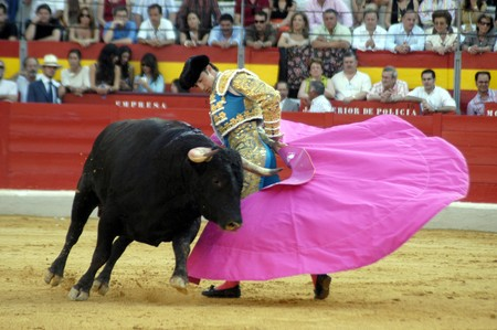 corrida: The bullfighter David Fandila, El Fandi, in the bullfight held in Granada on 7 June 2007, at Feria de Corpus Editorial