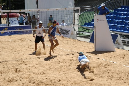 20080503 - ciudad real - spain - the world championship beach volleyball in the town of puertollano in ciudad real province.