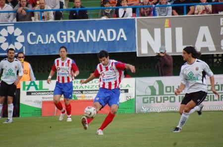 20080518- Baza-Granada - Spain - Football game between Baza and Merida Editorial