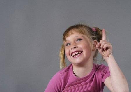 between 5 and 10 years: smiling girl
