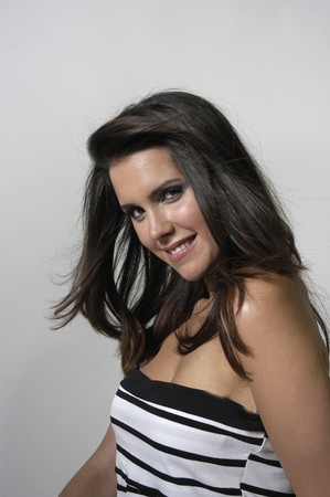 Beautiful brunette young woman Stock Photo - 7502007