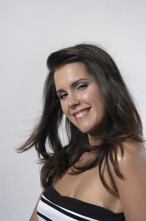 Beautiful brunette young woman Stock Photo - 7502008