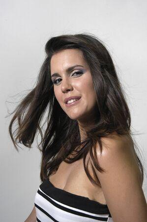 Beautiful brunette young woman Stock Photo - 7502096