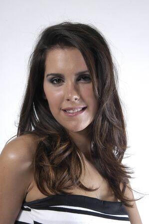 Beautiful brunette young woman Stock Photo - 7502093