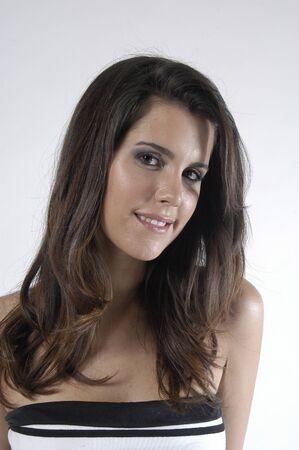 Beautiful brunette young woman Stock Photo - 7502046