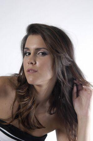 Beautiful brunette young woman Stock Photo - 7501862