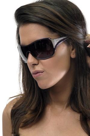 Female model with sunglasses photo