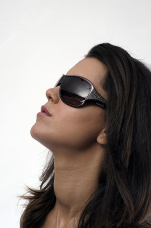 Female model with sunglasses photo