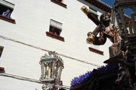 religious habit: 20040406 - Granada - Spain - Easter processions in the city of Granada, Spain